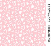 cute doodle style hearts... | Shutterstock . vector #1207912381