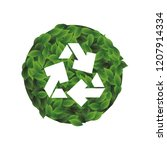 recycle arrows symbol with... | Shutterstock .eps vector #1207914334