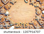 merry christmas and happy new...   Shutterstock . vector #1207916707