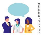 avatar businesspeople design | Shutterstock .eps vector #1207919554