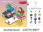 isometric online education... | Shutterstock .eps vector #1207919857