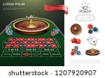 realistic casino colorful... | Shutterstock .eps vector #1207920907