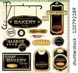 bakery labels elegant retro... | Shutterstock .eps vector #120792289