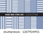 washed indigo striped shirt... | Shutterstock .eps vector #1207924951