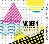 creative memphis neo geometric... | Shutterstock .eps vector #1207935277