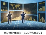 concept of business charts and... | Shutterstock . vector #1207936921