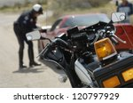 Motorbike With Police Officer...