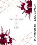 marsala colored dark and white... | Shutterstock .eps vector #1207989604