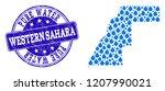 map of western sahara vector... | Shutterstock .eps vector #1207990021