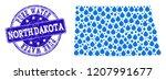 map of north dakota state... | Shutterstock .eps vector #1207991677