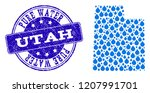 map of utah state vector mosaic ... | Shutterstock .eps vector #1207991701