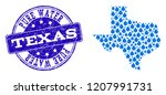 map of texas state vector... | Shutterstock .eps vector #1207991731