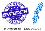 map of sweden vector mosaic and ... | Shutterstock .eps vector #1207991737
