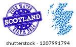 map of scotland vector mosaic... | Shutterstock .eps vector #1207991794