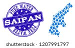 map of saipan island vector... | Shutterstock .eps vector #1207991797