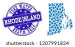 map of rhode island state... | Shutterstock .eps vector #1207991824