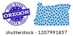 map of oregon state vector... | Shutterstock .eps vector #1207991857