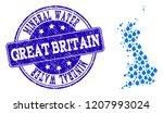 map of great britain vector...   Shutterstock .eps vector #1207993024