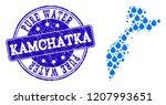 map of kamchatka peninsula... | Shutterstock .eps vector #1207993651
