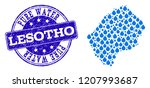 map of lesotho vector mosaic... | Shutterstock .eps vector #1207993687