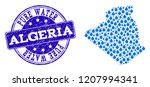 map of algeria vector mosaic... | Shutterstock .eps vector #1207994341