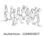 continuous line drawing of...   Shutterstock .eps vector #1208003827