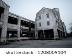 old abandoned haunted house ... | Shutterstock . vector #1208009104