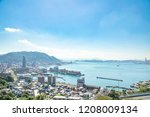 landscape of kitakyushu city ... | Shutterstock . vector #1208009134