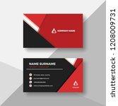 creative red and black business ... | Shutterstock .eps vector #1208009731