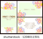 invitation greeting card with... | Shutterstock .eps vector #1208011501