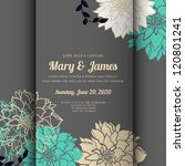 wedding card or invitation with ... | Shutterstock .eps vector #120801241