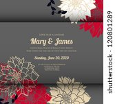 wedding card or invitation with ... | Shutterstock .eps vector #120801289