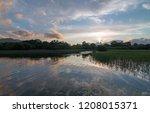 irish twilight sunset over... | Shutterstock . vector #1208015371