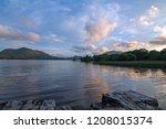 irish twilight sunset over... | Shutterstock . vector #1208015374