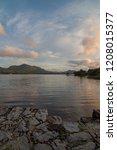 irish twilight sunset over... | Shutterstock . vector #1208015377