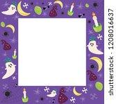 halloween vactor frame. place... | Shutterstock .eps vector #1208016637