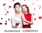 young cheerful caucasian funny... | Shutterstock . vector #120802414