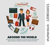 travel poster for holiday... | Shutterstock .eps vector #1208026021