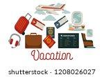 travel poster for holiday... | Shutterstock .eps vector #1208026027