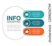 vector infographic template for ... | Shutterstock .eps vector #1208026744