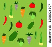 doodle vegetable simple style | Shutterstock .eps vector #1208026807
