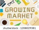 growing market vector concept... | Shutterstock .eps vector #1208029381