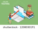 isometric flat concept of... | Shutterstock . vector #1208030191