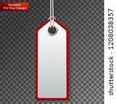 realistic discount sale tag | Shutterstock .eps vector #1208038357
