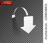 vector blank wobbler with... | Shutterstock .eps vector #1208038831