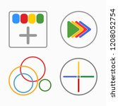 set of color icons. google icon....