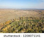 aerial view of autumn forest. | Shutterstock . vector #1208071141