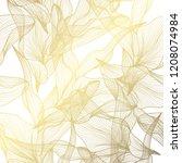 elegant golden pattern with...   Shutterstock . vector #1208074984