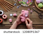 Making Pink Pig. Crochet Toy...