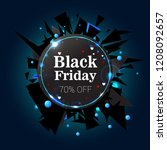 black friday  black explosion... | Shutterstock .eps vector #1208092657